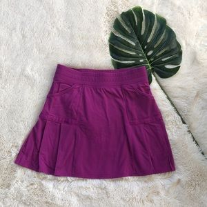 Athleta Pink Pleated Workout Skirt